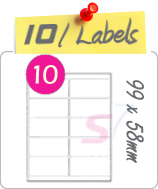 10 Labels Per Sheet