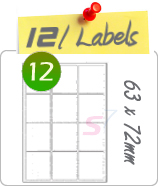 12 Labels Per Sheet