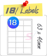 18 Labels Per Sheet