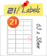 21 Labels Per Sheet