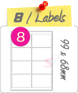 8 Labels Per Sheet